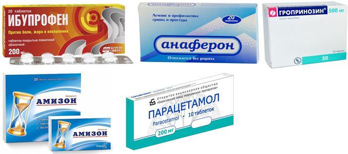 Популярные лекарственные препараты при простуде