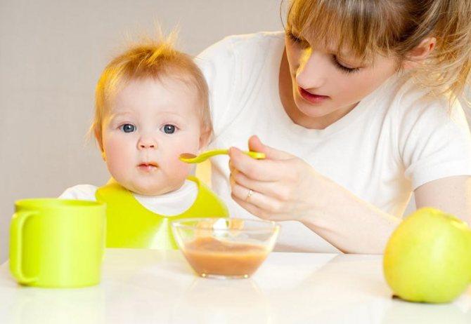 Ребенок аллергик, правильный прикорм